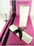 10M Chemin de table SUBLIM fushia