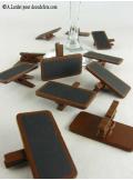 12 petites ardoises chocolat