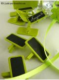 12 petites ardoises vert anis