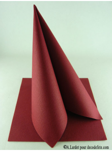 50 Serviettes jetables presto bordeaux