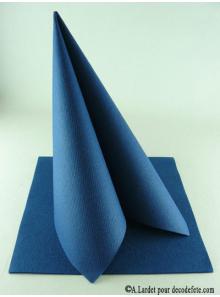 25 Serviettes jetables presto bleu marine