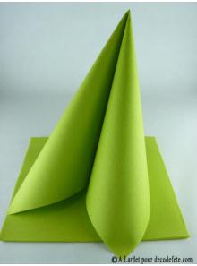 50 Serviettes jetables presto vert anis/chartreuse