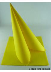 25 Serviettes jetables presto jaune