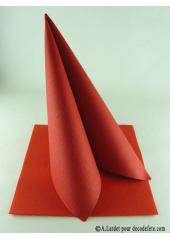 50 Serviettes jetables presto rouge