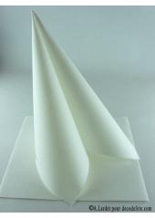 50 Serviettes jetables presto blanc