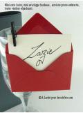 50 Mini Enveloppe bordeaux