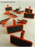 12 petites ardoises orange