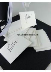 50 Mini Carte blanc