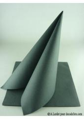 50 Serviettes jetables presto gris anthracite
