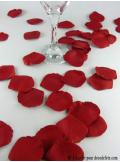 55 Pétales de rose rouges