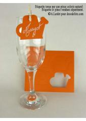12 Etiquettes arrosoir orange