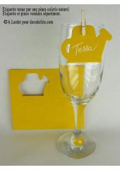 12 Etiquettes arrosoir jaune