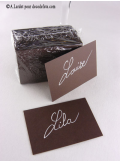 50 Mini Carte chocolat