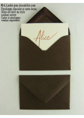 50 Mini Enveloppe chocolat