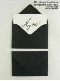 50 Mini Enveloppe noires