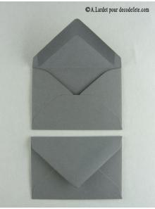 50 Mini Enveloppe gris