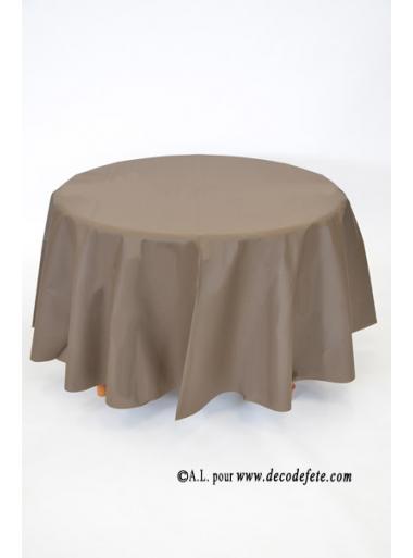 1 nappe presto ronde jetable chocolat. Black Bedroom Furniture Sets. Home Design Ideas
