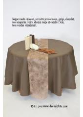 1 Nappe presto ronde jetable chocolat