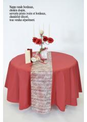 nappe intiss mariage nappe ronde mariage d co de f te d codef. Black Bedroom Furniture Sets. Home Design Ideas
