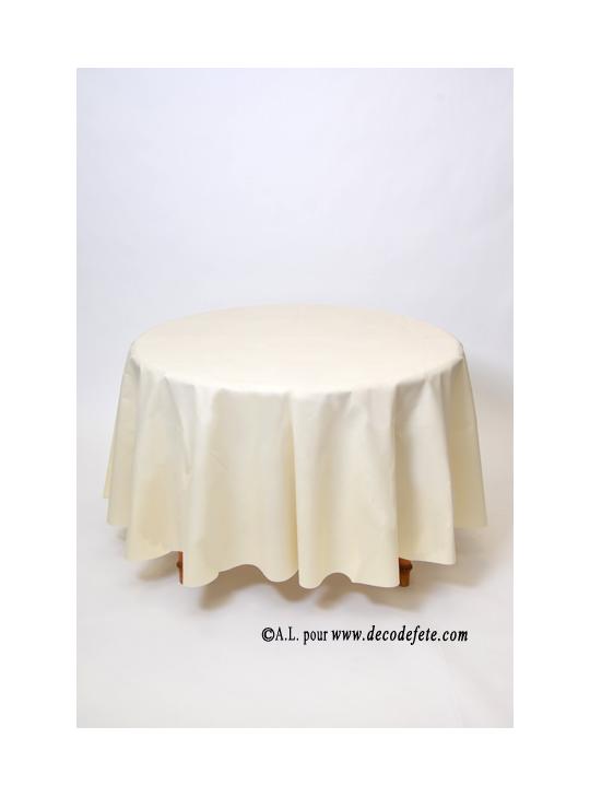 1 nappe presto ronde jetable champagne - Chemin de table pour table ronde ...
