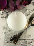 1 Bougie boule 8 cm blanche