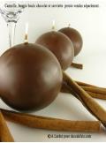 1 Bougie boule 8 cm chocolat