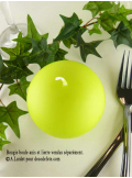 1 Bougie boule 8 cm vert anis