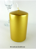 1 Bougie cylindre 10 cm or