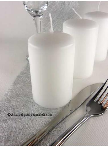 1 Bougie cylindre 10 cm blanc