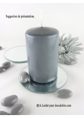 1 Bougie cylindre 10 cm anthracite