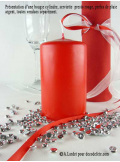 1 Bougie cylindre 10 cm rouge