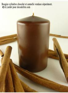 1 Bougie cylindre 10 cm chocolat