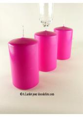 1 Bougie cylindre 10 cm fushia