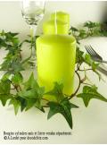 1 Bougie cylindre 10 cm vert anis