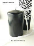 1 Bougie cylindre 10 cm noir