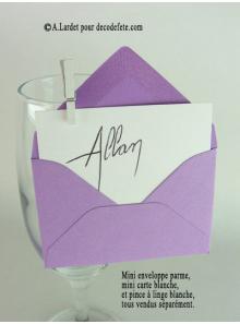 50 Mini Enveloppes lilas