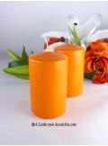 1 Bougie cylindre 10 cm orange mandarine