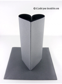 25 Serviettes jetables presto stone grey (anthracite)