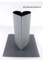 25 Serviettes jetables presto stone grey (anthracite)