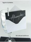 50 Mini Enveloppe blanche
