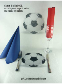 5M Chemin de table BALLON DE FOOT
