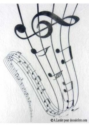 5m chemin de table musique chemins de table partition de for Nappe et chemin de table en papier