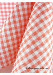 25 Serviettes jetables presto vichy rouge