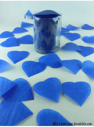 Confettis coeur bleu roy