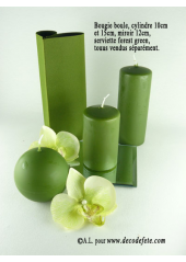 1 Bougie cylindre 10 cm vert mousse