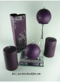 1 Bougie cylindre 10 cm prune