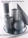 1 Bougie cylindre 15 cm anthracite