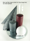 1 Bougie cylindre 15 cm bordeaux