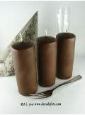 1 Bougie cylindre 15 cm chocolat