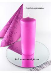 1 Bougie cylindre 15 cm fushia